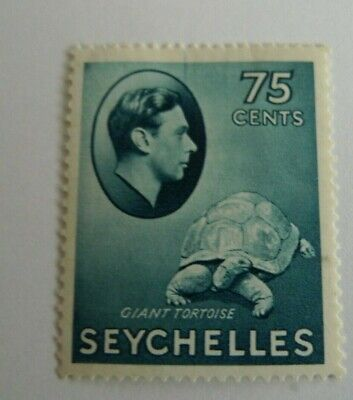 SEYCHELLES GEORGE VI 142 MH CENTS 75 CAT 52.50