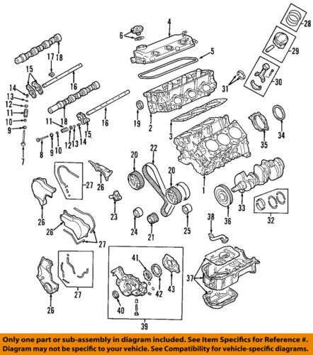 [DIAGRAM_38YU]  MITSUBISHI OEM 04-08 Endeavor-Engine Cylinder Head Gasket 1005A621   eBay   Mitsubishi Endeavor Engine Diagram      eBay