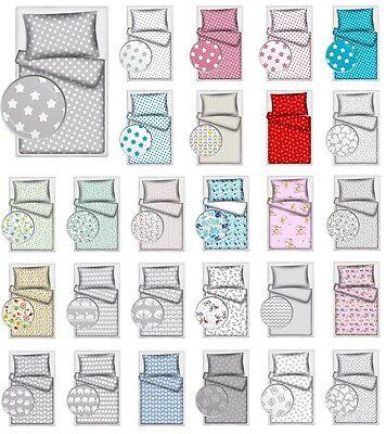 2 Piece Baby Bedding COT BED / PRAM / CRIB / TODDLER BED Duvet Set 100% COTTON !