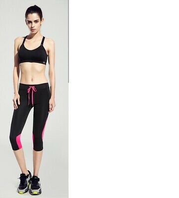 Leggings,Caprihose,Lycra,Fahrradhose,Glanzhose,Nylonhose,Fitnesshose,Gymnastik M - Capri Leggings Nylon