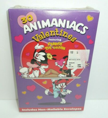 Vintage Animaniacs Valentines Day Cards for Children Pinky and the Brain 1997