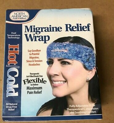 Tension Relief Wrap - Migraine Relief Wrap Headache Pain Hot Cold Therapy Head Stress Tension Heat