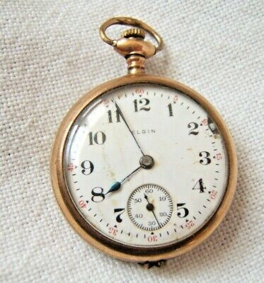 ELGIN POCKET WATCH GOLD FILLED CASE AS IS PARTS/REPAIR