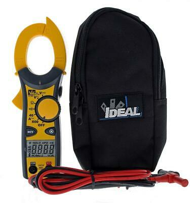 Ideal Industries Inc. 61-744 Clamp Meter 600 Amp Ac With Ncv Yellow