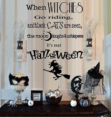 When Witches Go Riding - Halloween, Words & Phrases, Wall