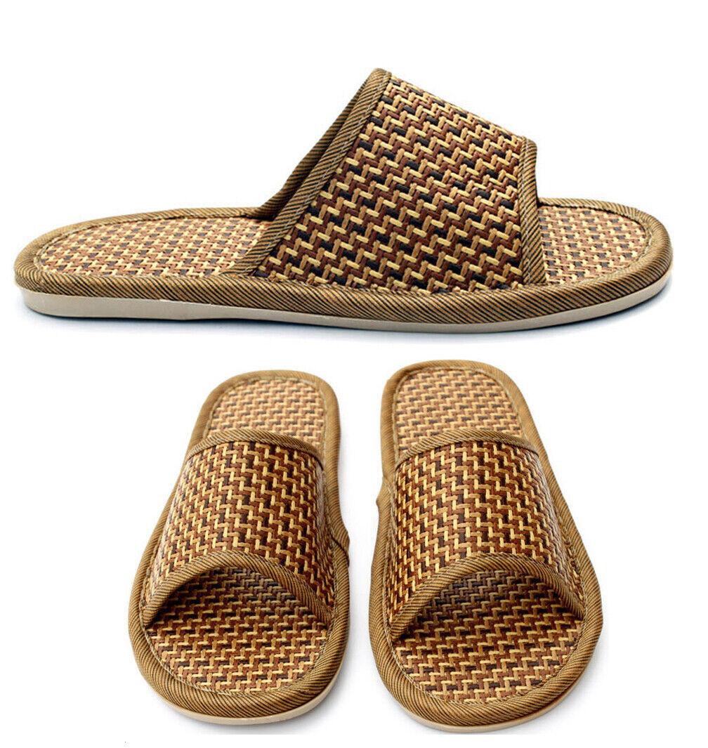 Men Women Straw Sandals Slippers