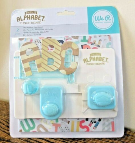 New! We R Memory Keepers Mini Alphabet Punch Board 663004 (0043)