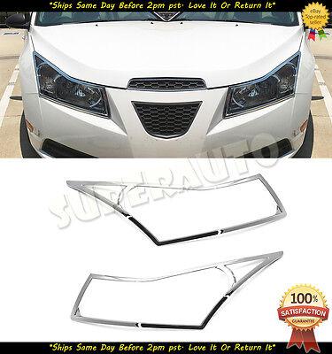 Chrome ABS Headlight Cover For Chevrolet Cruze 2010-2014