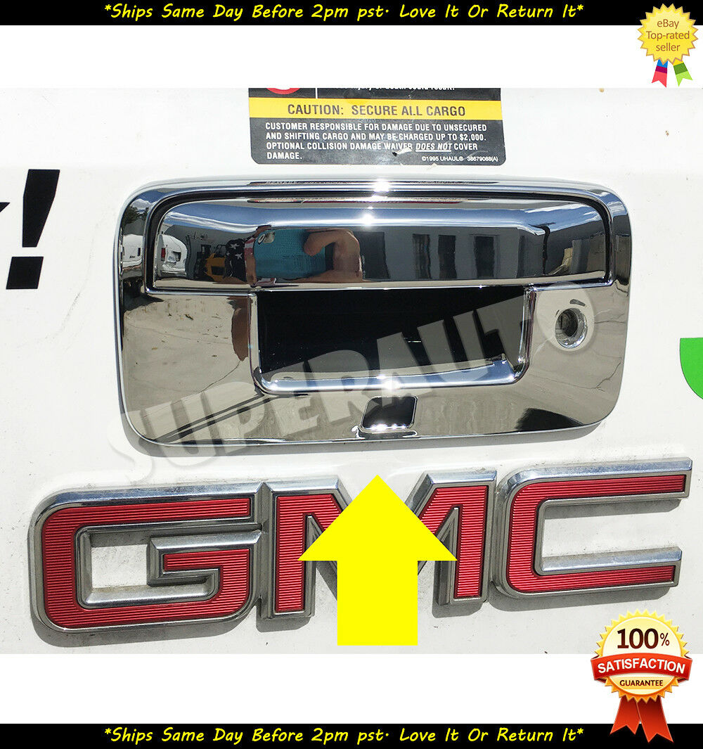 For14-18 CHEVY SILVERADO GMC SIERRA CHROME TAILGATE HANDLE COVER W// Camera