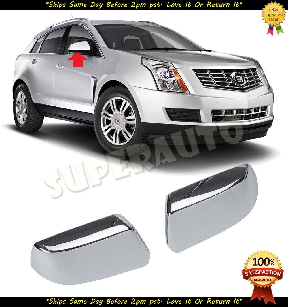 Fit 2010-2016 CADILLAC SRX CHROME TOP HALF MIRROR COVER COVERS