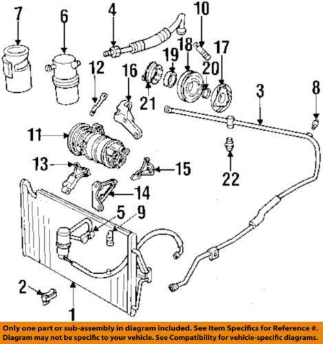Cadillac GM OEM 9600 DeVilleAC    AC    Hose Line Pipe