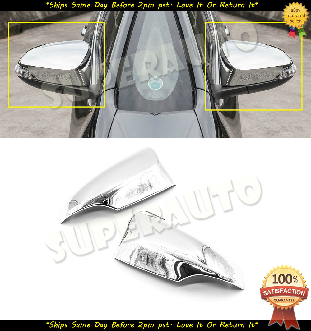 Chrome side mirror cover trims For Toyota Camry 2012-2017 without turn signal