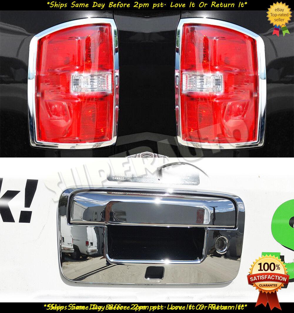 2014-2018 SILVERADO SIERRA Chrome Door Handle Tailgate COVERS Overlays 2DR W//Cam