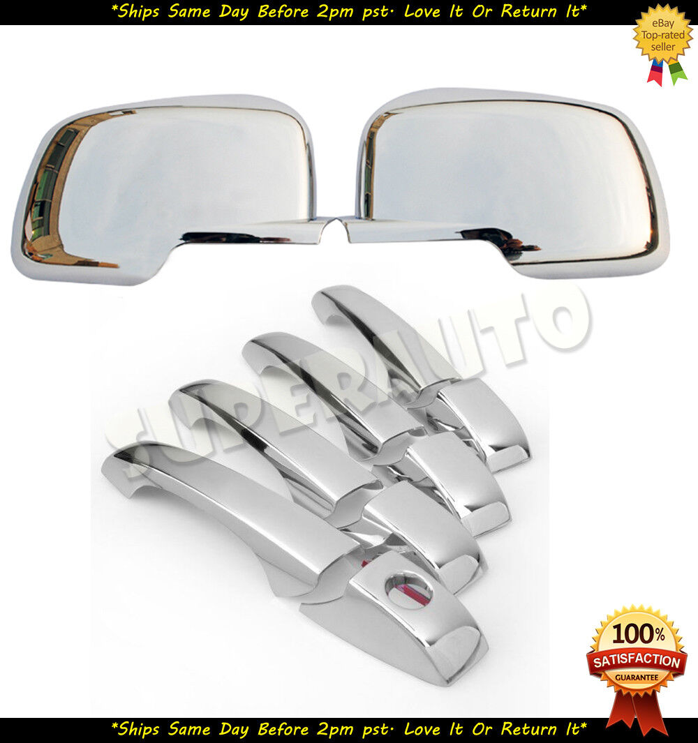 For Nissan Rogue 2008-2013 Chrome Full Mirror Covers 08 09 10 11 12 13 Cover