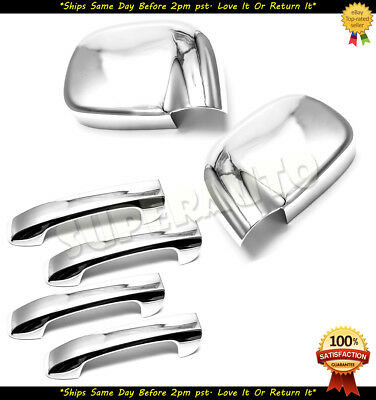 For 2002-2009 Dodge Ram 1500/2500/3500 Chrome Mirror Covers+4DR Handle Covers