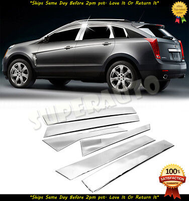 For 2010-2017 Cadillac SRX Polished 6pcs Stainless Steel Door Pillar Posts Trims
