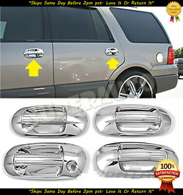 For 2003-2017 Ford Expedition+Lincoln Navigator 8pcs Chrome Door Handle Covers Excursion Chrome Door Handle