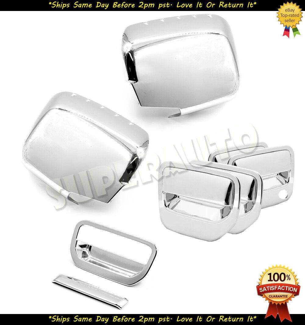 For 2006-2014 Honda RIDGELINE Chrome Covers Set Mirrors+4 Door Handles+Tailgate