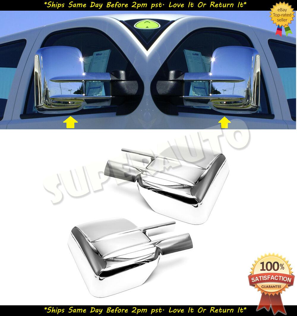 3500 HD Chrome Mirror Covers For 2015 2016 2017 2018 GMC Sierra 2500 HD