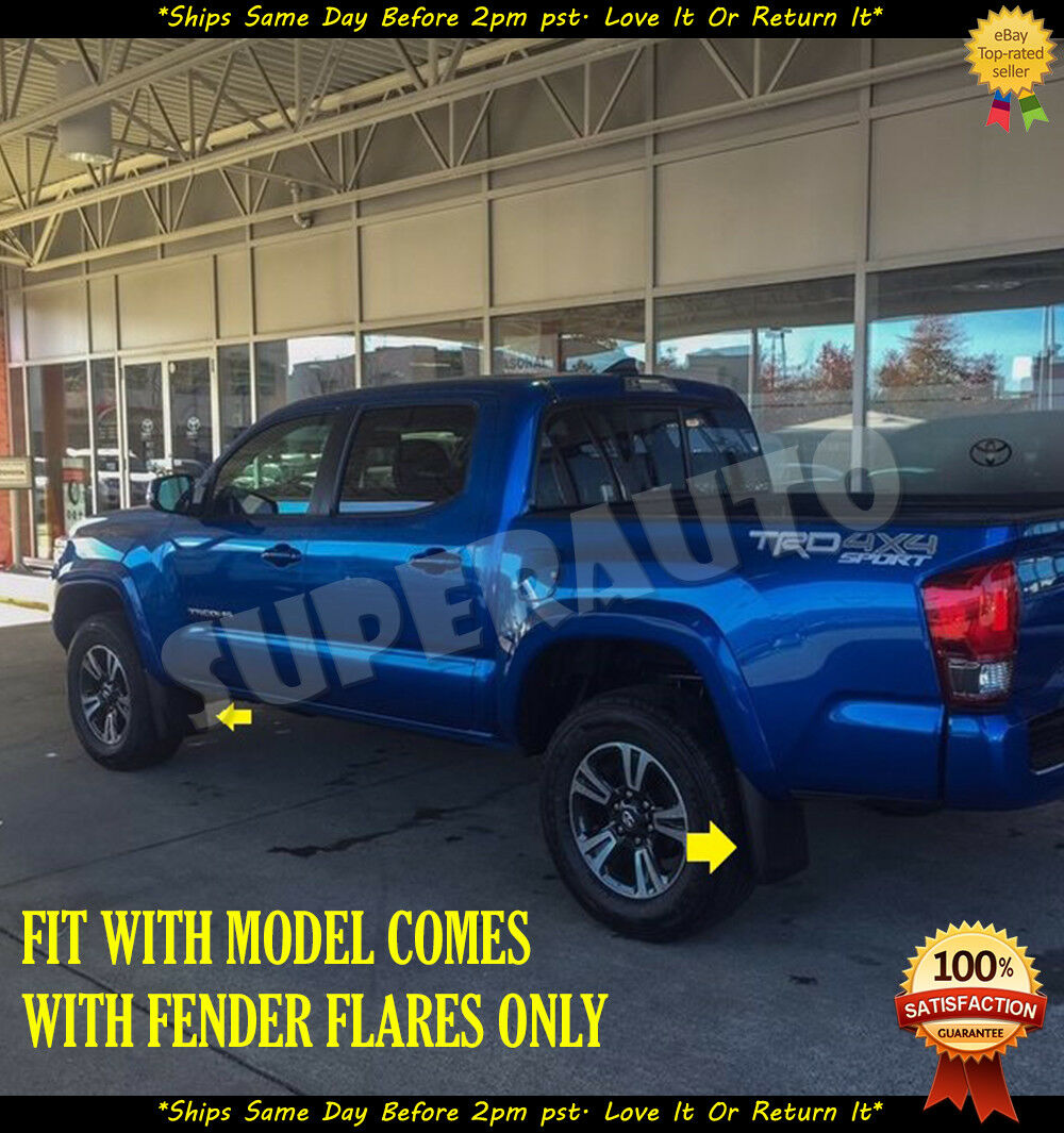 Fit 16-18 Toyota Tacoma Matte Balck 4Pcs Front//Rear Wheel Mud Guard Splash Flaps