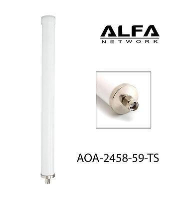 Alfa 9 dBi AOA-2458-59-TS 2.4/5 GHz Dual Band Outdoor Wi-Fi omni antenna RP-SMA