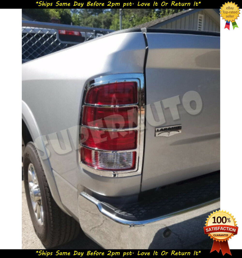 For 2010-2015 DODGE RAM 1500//2500//3500 Chrome Tail Light Covers Overlays Ram 09