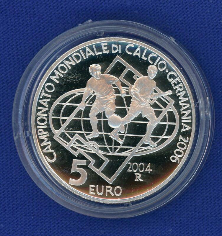 2004 R San Marino Italy 5 Euro & 10 Euro Silver 2 Coin Proof Set - OGP