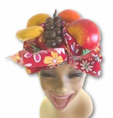 Latin Lady Tropical Fruit Cabaret Carmen Miranda Tutti Frutti Hat Headpiece - Fruit Hat