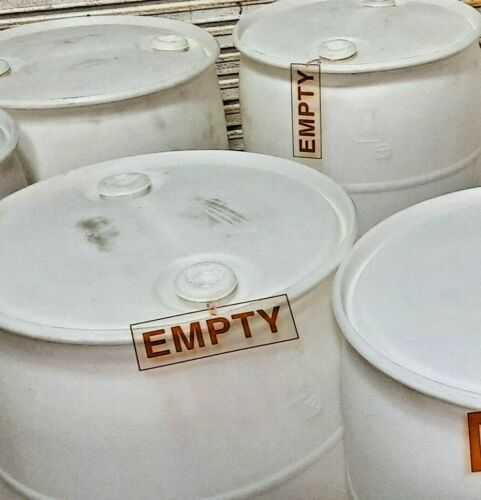"""55 Gallon Drum """"EMPTY"""" SIGN - Label drums for SAFETY  **REUSABLE**  Made in USA"""