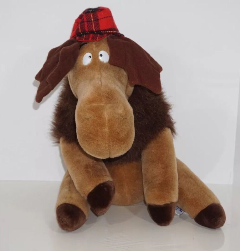 """Vintage 1983 Carousel By Guy Moose With Winter Hat! 17"""" Plush.vintage Toys"""
