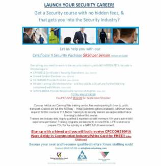 Launch You Security Career! Perth Region Preview
