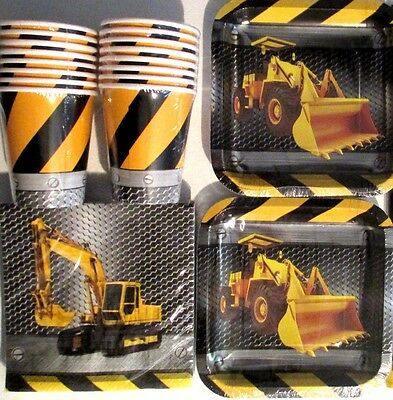 CONSTRUCTION ZONE - Birthday Party Supply Pack Kit w/ Plates,Cups & Napkins