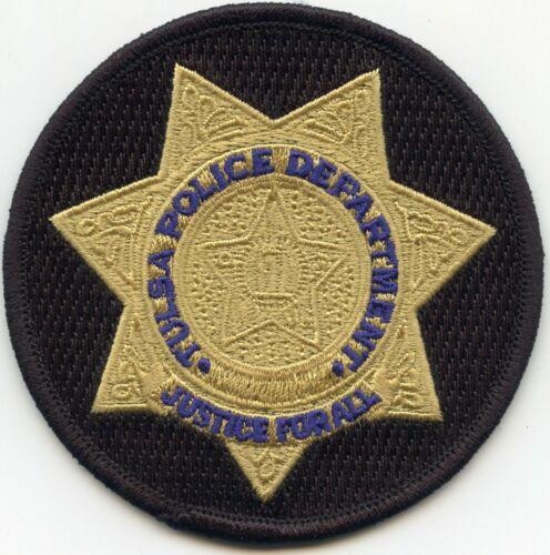 TULSA OKLAHOMA OK round tan star POLICE PATCH