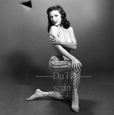 vintage 1960s Negative-nude brunette pinup girl Nancy Lewis-cheesecake t978961