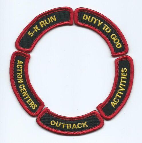 2001 National Jamboree Activity Segments, Set of 5