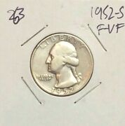 Silver Washington Quarters 1952