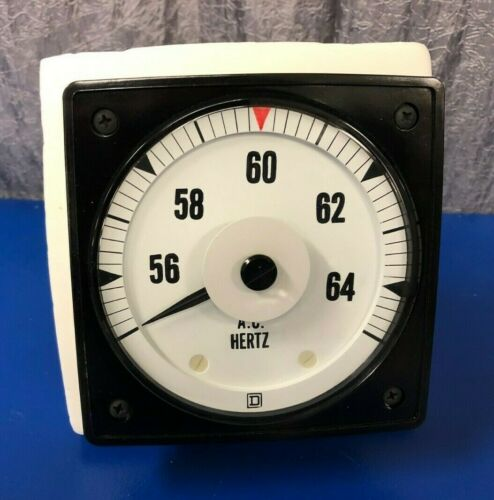 "Electromagnetic Square D 4-1/2"" Rectangular Analog Switchboard Meter, AC Hertz"