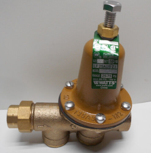 "Watts LF25AUB-Z3 3/4"" Lead Free Water Pressure Reducing Valve 25-75 psi"