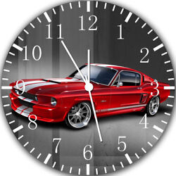 Old Classic Mustang Frameless Borderless Wall Clock Nice For Gifts or Decor Y118