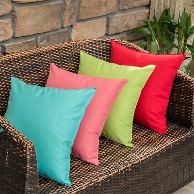 2PC Outdoor Waterproof Pillow Cover Square Garden Patio Couch Sofa Cushion Case  Outdoor Pillows Cushions