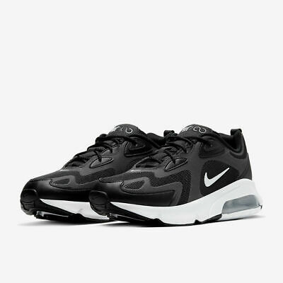 Nike Air Max 200 Trainers New With Box Black / White UK...