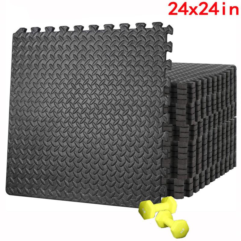 12PC Multipurpose Interlocking Exercise Foam Mats Gym Playroom Matting Equipment