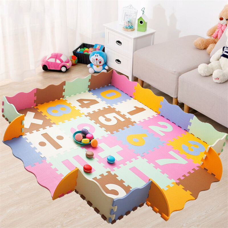 36PC Play Mats Numbers Puzzle Pad Children