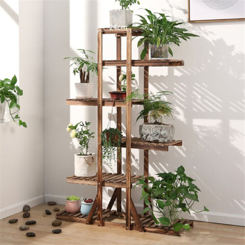 """52"""" Tall 6 Tiers Stepped Planter Plant Stand Flower Pots She"""