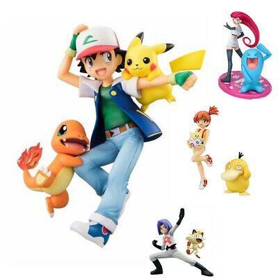 Pokemon Action Figures Ash Ketchum Misty Pikachu  Psyduck Togepi Toys UK Stock