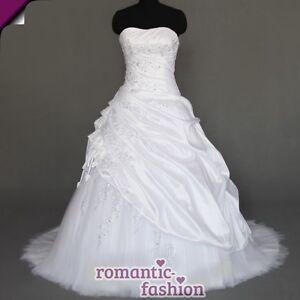 Brautkleid, Hochzeitskleid in Weiß Größe 34-54 zur Auswahl+NEU ...