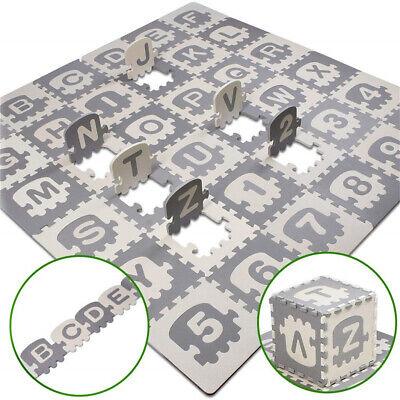 36X EVA ABC Letters Numbers Foam Puzzle Play Mat Interlocking Floor Soft Tiles