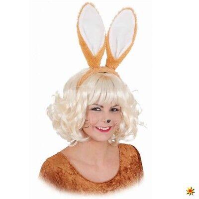 Haarreif mit Hasenohren braun Ostern Fasching Karneval Kostüm brauner - Braun Hasenohren Kostüm