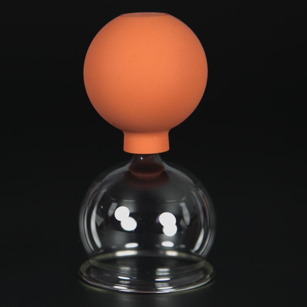 Schröpfglas Schröpfgläser mit Saugball med. Schröpfen Original Lauschaer Glas 65 mm