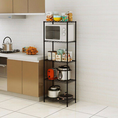 Wire Storage Units - Wire Shelving 5 Tier Metal Storage Rack Shelf 3/5 Shelf Shelves Unit Kitchen